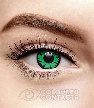 Nemesis 90 Day Coloured Contact Lenses (Green)