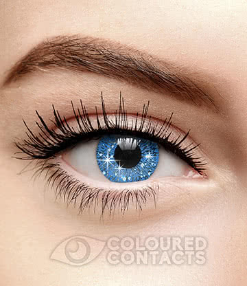 Glimmer 90 Day Coloured Contact Lenses (Dark Blue)