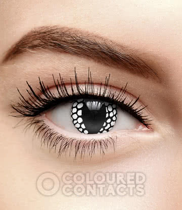 Dragon Remix 1 90 Day Coloured Contact Lenses (White/Black)