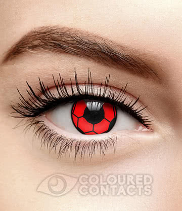 Football 90 Day Coloured Contact Lenses (Red/Black)