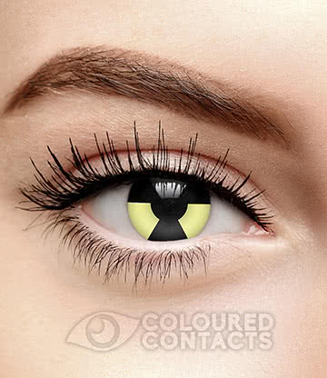 Biohazard 90 Day Coloured Contact Lenses (Yellow/Black)