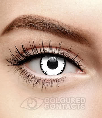 Angelic 90 Day Coloured Contact Lenses (White)