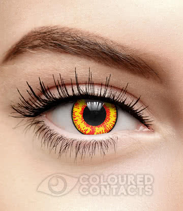 Dragon's Breath 90 Day Coloured Contact Lenses (Yellow)