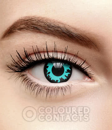 Flame 90 Day Coloured Contact Lenses (Blue)