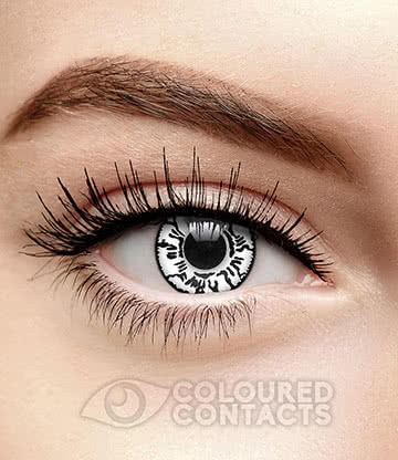 Neji 90 Day Coloured Contact Lenses (White)