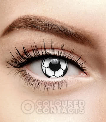 Football 90 Day Coloured Contact Lenses (Black/White)
