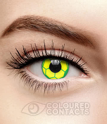 Football 90 Day Coloured Contact Lenses (Green/Yellow)