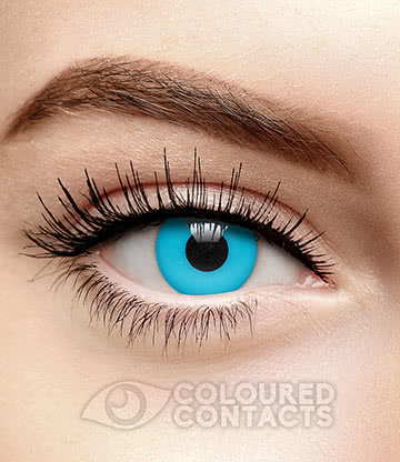 Zombie 90 Day Coloured Contact Lenses (Blue)