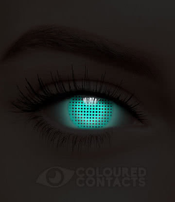 UV i-Glow Screen 90 Day Coloured Contact Lenses (Blue)