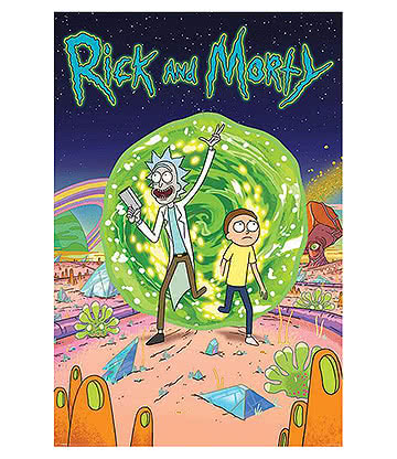 Official Rick & Morty Portal Poster (Multicoloured)