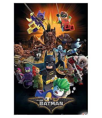 Lego Batman Boom Poster (Multicoloured)