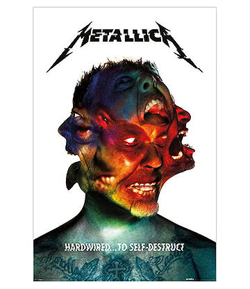 Official Metallica Hardwired Album Poster (Multicoloured)