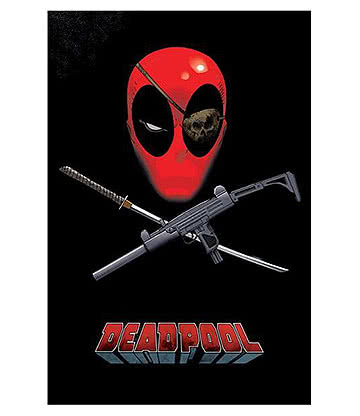 Marvel Deadpool Eye Patch Poster (Multicoloured)
