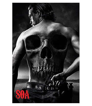 Sons Of Anarchy Jax Back Poster (Multicoloured)