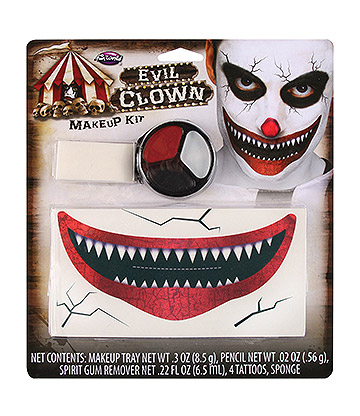 Blue Banana Evil Clown Makeup Kit (Multicoloured)