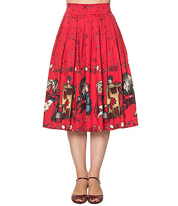 Banned Meadows Skirt (Red)