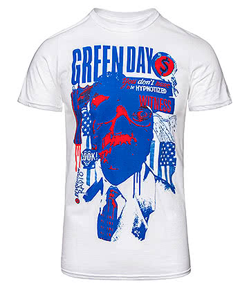 Official Green Day Patriot Witness T Shirt (White)