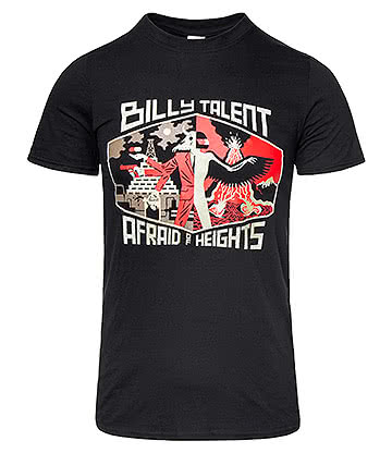 Official Billy Talent Afraid Of Heights T Shirt (Black)