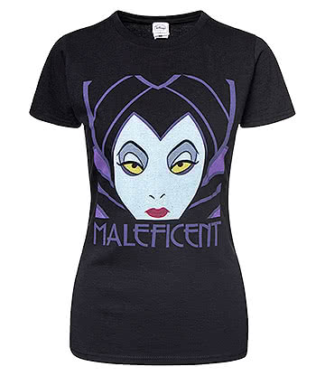 Official Disney Maleficent Skinny Fit T Shirt (Black)