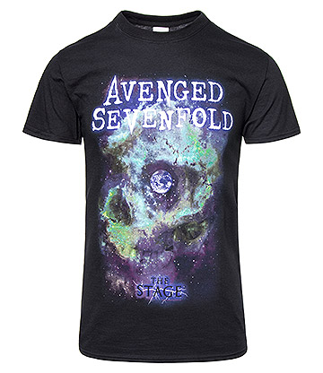 Official Avenged Sevenfold Space Face T Shirt (Black)