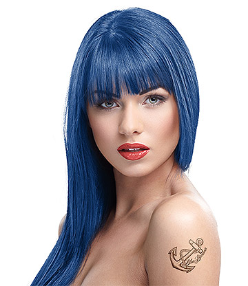 Crazy Color Semi-Permanent Hair Dye 100ml (Sapphire Blue)