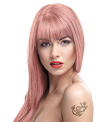 Crazy Color Semi-Permanent Hair Dye 100ml (Rose Gold)