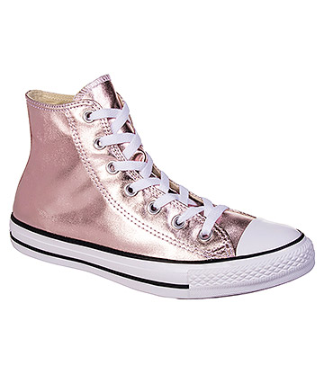 Converse All Star Metallic Hi Top Boots (Rose Quartz)