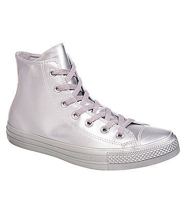 Converse All Star Metallic Hi Top Boots (All Silver)