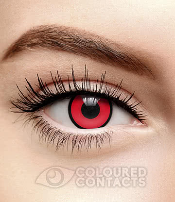 Block Black Ring 90 Day Coloured Contact Lenses (Red)