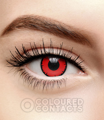 Angelic 90 Day Coloured Prescription Contact Lenses (Red)