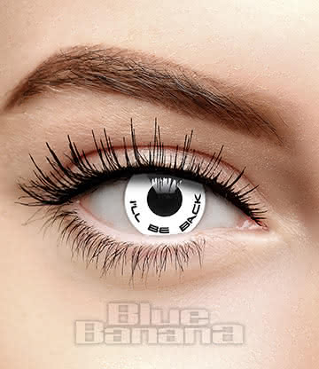 I'll Be Back/Hasta La Vista Terminator 90 Day Coloured Contact Lenses (White)