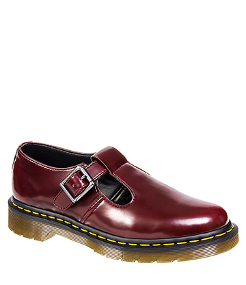Dr Martens Vegan Polley Shoes (Cherry Red)