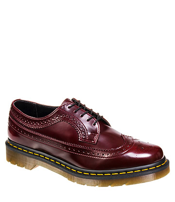 Dr Martens 3989 Wingtip Vegan Shoes (Cherry Red)