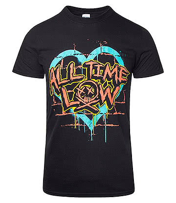 Official All Time Low Brick Wall T Shirt (Black)