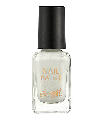 Barry M Frost Classic Nail Paint (White/Glitter)