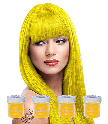 La Riche Directions Hair Dye 4 Pack 88ml (Fluorescent Yellow)