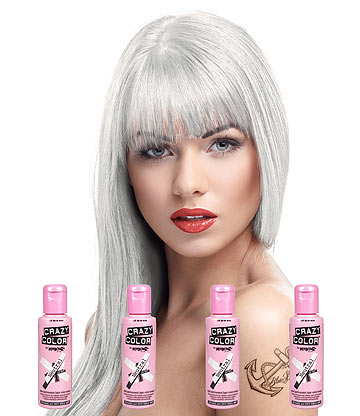 Crazy Color Semi-Permanent Hair Dye 4 Pack 100ml (Neutral)