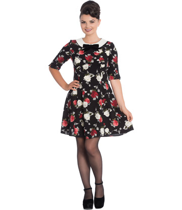 Hell Bunny Selma Mini Dress (Black)