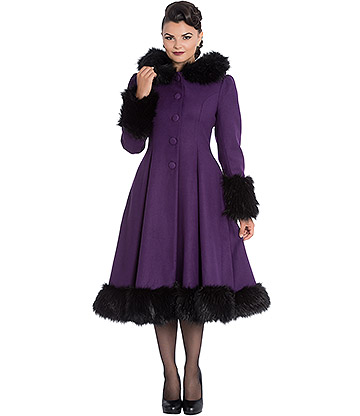 Hell Bunny Elvira Coat (Purple)