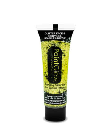 Paintglow Glitter Face & Body Gel (Gold)