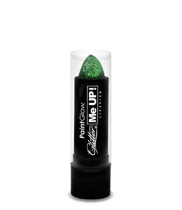 Paintglow Glitter Me Up Lipstick (Green)