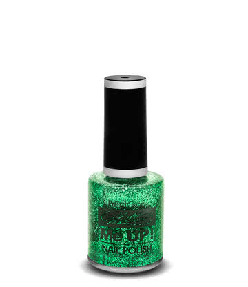 Paintglow Glitter Me Up Nail Polish (Green)