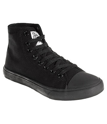 Bleeding Heart Canvas Hi Tops (All Black)