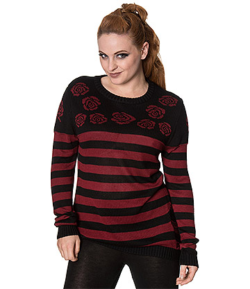 Banned The Cure Jumper (Black/Red)