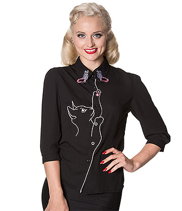 Banned Snowbird Blouse (Black)