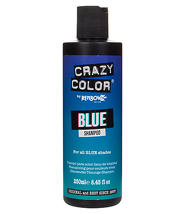 Crazy Color Shampoo For Coloured Hair 250ml (Blue)