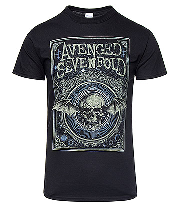 Official Avenged Sevenfold Ornate Deathbat T Shirt (Black)
