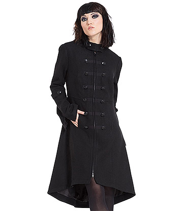 Jawbreaker Military Jacket Coat (Black)
