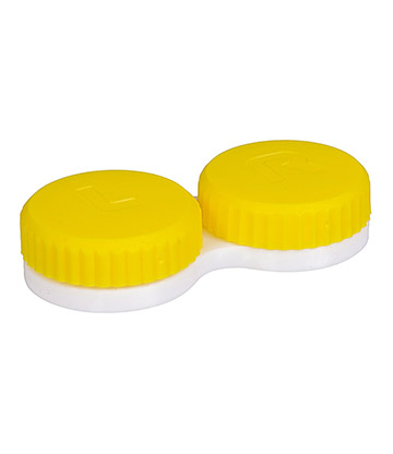 Coloured Contacts Plain Lens Case (Yellow)