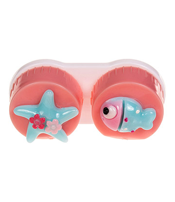 Coloured Contacts Fish Lens Case (Pink)